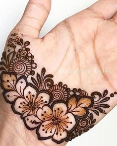 Henna Flower Designs, Basic Mehndi Designs, Modern Henna Designs, Henna Art Designs, Mehndi Designs For Girls, Mehndi Designs For Beginners, Bridal Henna Designs, Mehndi Design Pictures, Mehndi Designs For Fingers