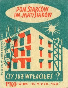 polish matchbox label, Gdansk