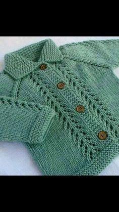 Ideas Crochet Cardigan Boy Jacket Pattern For 2019 Baby Cardigan Knitting Pattern, Knitted Baby Cardigan, Baby Knitting Patterns, Knitting Designs, Baby Patterns, Hand Knitting, Knitting For Kids, Blanket Patterns, Knitting Videos