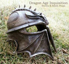 Make a full scale Dragon Age helmet