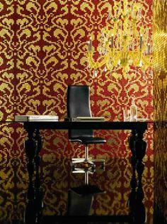 revestimientos mosaicos para un invierno y navidad de oro
