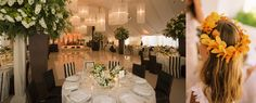 Fabulous custom chandeliers over the dance floor.  Also love the striped chair covers. Antony Todd: Event Design in New York City