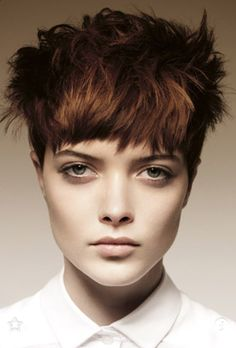 From Behind The Chair - Step-By-Steps Modern Pixie by Angelo Seminara Haircut Styles For Women, Short Haircut Styles, Cute Short Haircuts, Round Face Haircuts, Hair Styles, Short Hairstyle, Short Hair Cuts For Round Faces, Funky Short Hair, Short Hair Cuts For Women