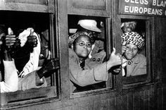 In 1952 members of the South African Passive Resistance Movement arrive in Cape Town where they are arrested for breaking apartheid law. Nelson Mandela, Women In History, World History, Black History, Apartheid, Union Of South Africa, World Conflicts, African American History, Civil Rights