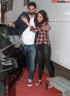 Bollywood actors #AdityaRoyKapur and #ShraddhaKapoor arrive for #KoffeeWithKaran show in Mumbai, India on December 10, 2013. http://movie.webindia123.com/movie/asp/event_gallery.asp?cat_id=2&p_id=0&e_no=6845