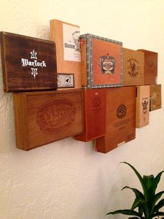 Items similar to Unique Cigar Box Wall Art on Etsy Cigar Box Diy, Cigar Box Crafts, Cigar Box Purse, Altered Cigar Boxes, Wooden Cigar Boxes, Cigar Art, Diy Box, Zigarren Lounges, Cigar Box Projects