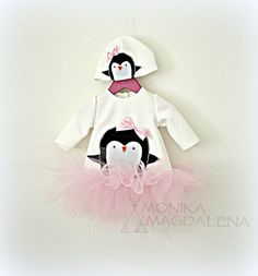 Dress children / baby girls   Penguins  made by MonikaMagdalenaHM