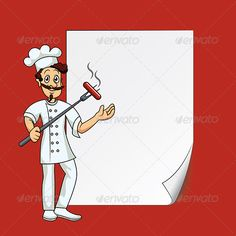 cook with blank paper