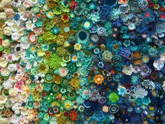 Memorial Crocheted Flowers from Yarndale 2015