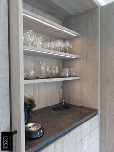 Ontbijtkast# keuken# eikfineer # www.inspiratieencreatie.be