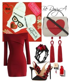 """""""Month of Love♡"""" by ahumadarosy on Polyvore featuring Kate Spade, Chicwish, Charlotte Olympia and Oscar de la Renta"""