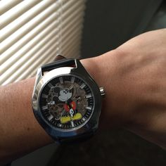 automatic movement + visible skeleton + Mickey Mouse = awesome watch!