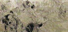 Daniel Vierge - Google Search La liberación de los galeotes: escena del Quijote, de Daniel Urrabieta Vierge (1851- 1904). Dibujo a tinta y aguada sobre papel, ca. 1875