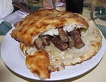 Somun or Lipinje za Cevapi - the Bosnian bread, similar to pitas, used with cavapcici sausages