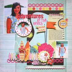 Beach Adventures *Fancy Pants New SUMMER SOUL Collection* - Scrapbook.com