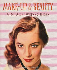 1950 Makeup and Beauty Tutorials 1950 Makeup, 1950s Hair And Makeup, Retro Makeup, Vintage Makeup, Vintage Beauty, Hair Makeup, 1940s Hair, Victorian Makeup, Vintage Redhead