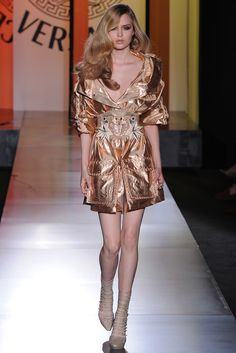 Rose Gold is a Complete Luxury, Rose Gold Trench is Irresistible <3 Atelier Versace Fall Couture 2012.