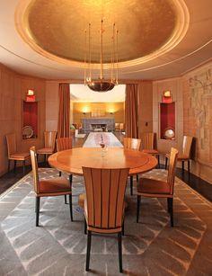 Dining Room. Eero Saarinen House, Cranbrook.