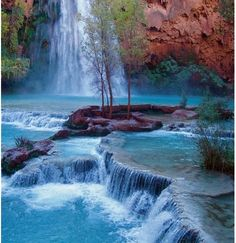 Havasu Falls, Grand Canyon National Park. I've actually been to this one!