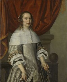 Portrait of a Woman, attributed to Hendrick Cornelisz. van Vliet, 1663