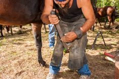 """Are you a hoof care professional suffering from low back pain, knee pain or plantar fasciitis?Learn how these issues connect to your """"traditional farrier stance"""" in part 2 of The Athletic Rider's Farrier Fitness series."""