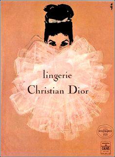 Lingerie DIOR vintage ad.