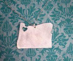 I Heart Portland, Oregon necklace... because I do heart Portland.
