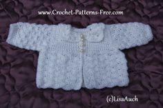 Free Crochet Pattern for Hooded Cardigan-Free baby Crochet Patterns