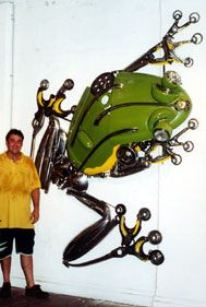 James Corbett Art from recycled car parts!