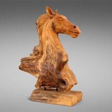 Paardenhoofd van hout