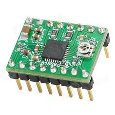 A4988 Cette carte breakout supporte une pilote Microstepping Allegro A4988 (DMOS) incluant une protection contre les sur-courants (overcurrent). C'est le contrôleur de moteur pas-à-pas que l'on retrouve sur les cartes de commande des imprimantes 3D comme...