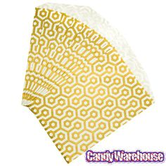 Just found Metallic Gold Honeycomb Candy Bags: 25-Piece Pack @CandyWarehouse, Thanks for the #CandyAssist!