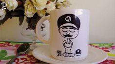 Tazas de cerámica sublimadas Diseño: Mario Bross Tamaño: 10 cm de alto x 8,5 cm de diámetro. Aptas para microondas