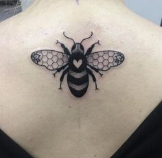 awesome Animal Tattoo Designs - Bee tattoo on back by Lauren Marie Sutton...