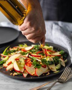Celery, Apple & Peanut Salad Large Salad Bowl, Salad Bowls, Sweetango Apple, Red Jalapeno, Salad Ideas, Roasted Peanuts, Apple Crisp, Rotisserie Chicken, Bon Appetit