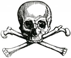 Early Halloween Image - Skull and Crossbones - The Graphics Fairy