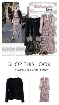 """""""STYLE STAR: Miranda Kerr"""" by itshanilove ❤ liked on Polyvore featuring Kerr®, Chanel and Burberry"""