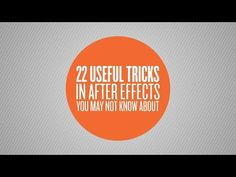 Skilled After Effects User? Even You Might Not Know Some of These 22 Useful Tricks - Lesterbanks