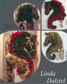 Some of my best sellers for 2015, showcase of champions! Facebook: Horse Head Wreaths by Linda Dalziel LindaDalziel@aol.com