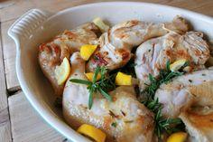 Braised Lemon-Rosemary Chicken
