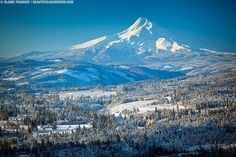 Mt. Hood. A great place to ski and only an hour out of the city.