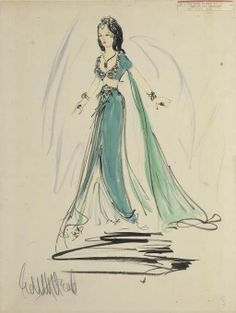 "Edith Head created ""The Peacock Costume"" for Hedy Lamarr to wear in 1949's Samson and Delilah."