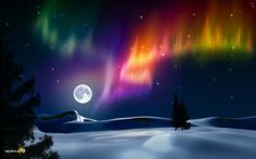 Aurora and a full moon. What a combination. To see this would be more than amazing. All Nature, Science And Nature, Amazing Nature, Beautiful Moon, Beautiful World, Simply Beautiful, Pretty Pictures, Cool Photos, Ciel Nocturne