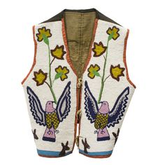 American Indian | Elk Clan Beaded Vest | beadwork, flathead, vests – Cisco's Gallery Petite Fashion, 80s Fashion, Fashion Over, Curvy Fashion, Style Fashion, Native American Regalia, Native American Beadwork, Stylish Eve Outfits, Denim Vests