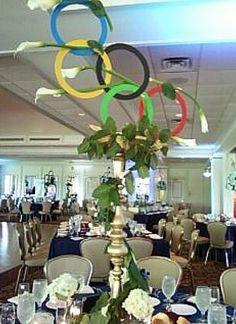 Olympics theme centerpiece