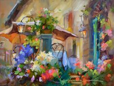 """Out for the Evening in Tuscany""  Original Oil by Artist Dreama Tolle Perry / DreamaTollePerry.com"