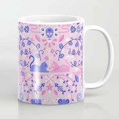 Buy Kitten Lovers Coffee Mug by Cat Coquillette. Worldwide shipping available at Society6.com. Just one of millions of high quality products available. Crazy Cat Lady, Crazy Cats, Floral Design, Art Floral, Tea Mugs, Drinkware, Coffee Cups, Kitten, Lovers