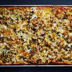 Cauliflower Pizza, Roasted Cauliflower, Cauliflower Recipes, Ricotta Pizza, Ricotta Cheese Recipes, Pizza Recipes, Vegetarian Recipes, Cooking Recipes, Pan Cooking