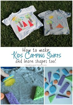 Kids Camp Craft…Kids will love making these fun camping themed shirts!