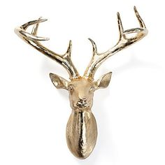 Pinners are excited to see Z Gallerie fauxidermy in electroplated gold! Deer Head, $69.95